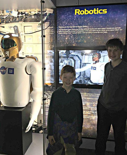 The International Space Station Robotics Display